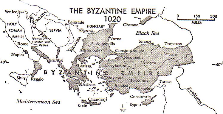 Byzantine Empire On Map