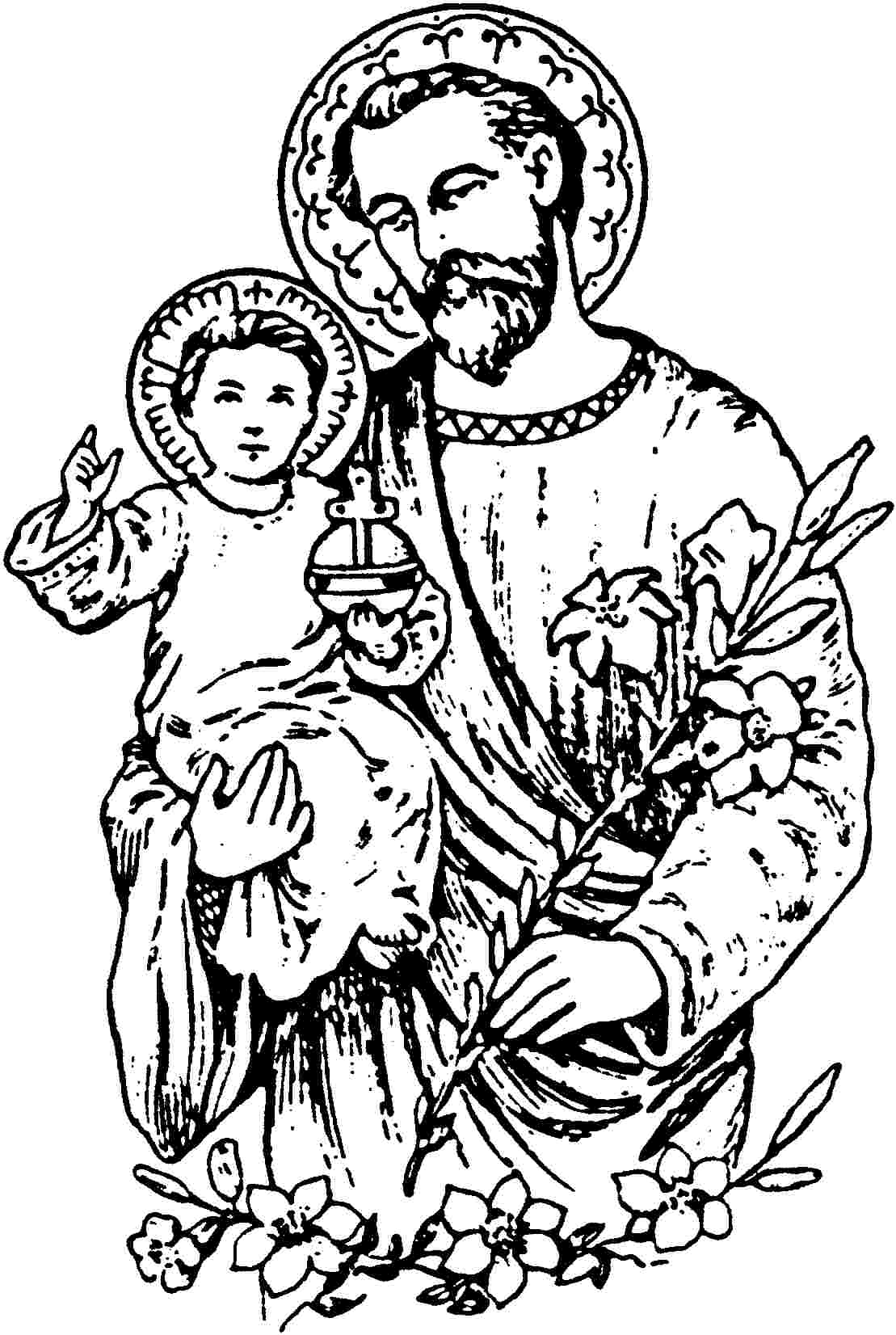 coloring pages about jesus - joseph st free colouring pages
