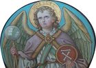 Angels around the Victorious Lamb - Pfärrenbach Chor Decke05.jpg