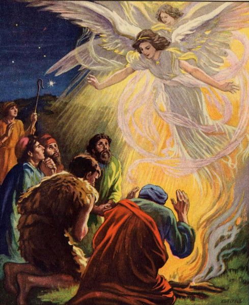 Angel Photos From The Bible The Lord Of The: File:Angels Appear To The Shepherds.jpg