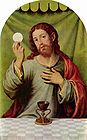 Jesus Holding the Eucharist by Juan de Juanes 001.jpg
